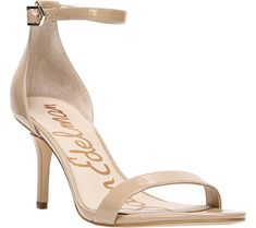 13bf88373bb Women s Sam Edelman Patti Ankle Strap Sandal - Classic Nude Patent  Synthetic with FREE Shipping