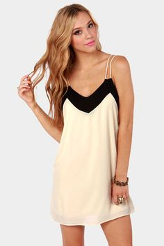 Straps Fifth Avenue Black and Ivory Dress via lulus.com