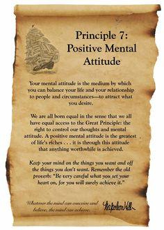 Principle 7: Positive Mental Attitude
