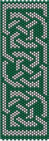 Celtic Knot Ribbon 3 (peyote stitch at Sova-Enterprises.com