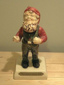Replica of Lampy, the Lamport gnome. The original Lampy, was first introduced to the United Kingdom in 1847 when Sir charles Isham, 10rh Baronet of Lamport Hall in Northampton, when he brought home Lampy, a terracotta German garden gnome. Wikipedia, the free encyclopedia
