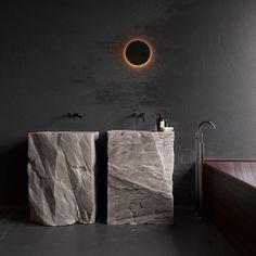 Modello di bagno con doppio lavabo di design n.06