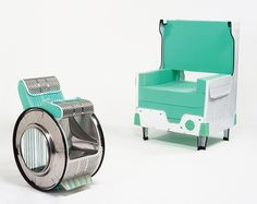 I used to be a washing machine now I'm a chair! via designboom