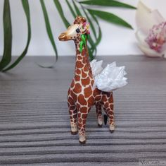 Giraffe, Polymer Clay, Super Cute, Etsy, Vintage, Animals, Clay Projects, Craft Gifts, Schmuck
