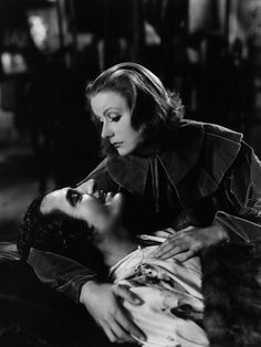 Greta Garbo - John Gilbert in Queen Christina 1933- gives up her throne for the man she loves and he dies in a duel