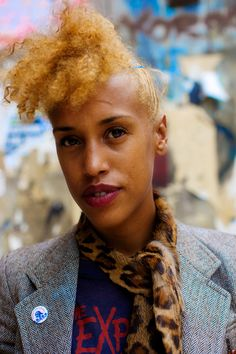 Demelaza, musician and vintage store owner, in London. Photo by Wayne Tippetts (via Natural Belle)