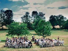 Outdoor rustic wedding ceremony | Image by Pierre Atelier Photography