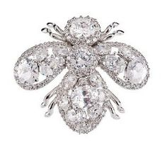 Joan Rivers Crystal Embellished Glistening Bee Pin