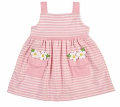 Florence Eiseman Girls Pink Stripe Knit Dress – Flower Pot Pockets The clothing culture is very old. Frock Design, Baby Outfits, Kids Outfits, Cute Outfits, Toddler Dress, Baby Dress, Little Girl Dresses, Girls Dresses, Seersucker Dress
