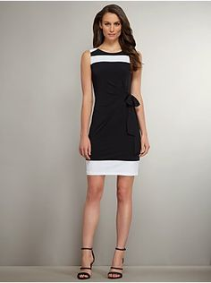 Side-Tie Colorblock Dress from New York & Company