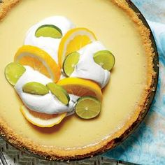 Key Lime-Buttermilk Icebox Pie with Baked Buttery Cracker Crust | MyRecipes.com