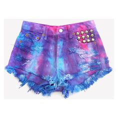 DENIM SHORTS ❤ liked on Polyvore featuring shorts, denim short shorts, short jean shorts, denim shorts and jean shorts