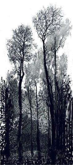 """dionyssos: """"David Hockney ( B.1937) Tall Trees 2008 """""""