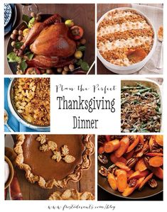 Plan the Perfect Thanksgiving Dinner-  Classic Thanksgiving Recipes www.frostedevents.com  #thanksgiving #recipes #turkey