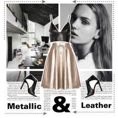 This season, shiny clothing and accessories mean one thing: glamour. Everyday outfits are being injected with a shot of glitz thanks to some flashy, not trashy,. Metallic Leather, Boards, Shoe Bag, Polyvore, Stuff To Buy, Shopping, Collection, Design, Women
