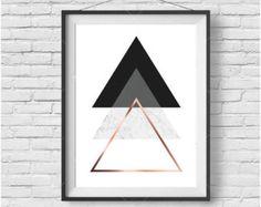 Triangles Print, Minimalist Art, Contemporary Print, Downloadable Art, Modern Print, Marble Print, Monochromatic Art, Scandinavian Print