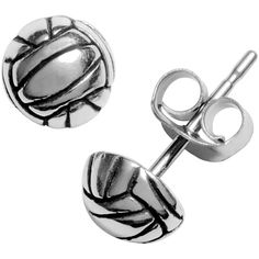 Journee Collection Sterling Silver Volleyball Stud Earrings ($8.99) ❤ liked on Polyvore featuring jewelry, earrings, white, white jewelry, sterling silver butterfly jewelry, stud earrings, sterling silver long earrings and white earrings