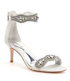 45ff56d5f Antonio Melani Sadina Rhinestone-Embellished Ankle Strap Fabric Dress  Sandals Women s Shoes Sandals