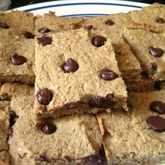"""Ripped Recipes - Peanut Butter Chocolate Chip """"Bean"""" Bars - Is a description really needed? The picture says a thousand words!"""