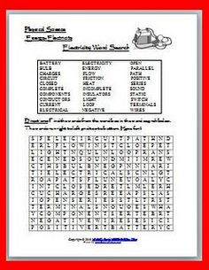 Electricity Word Search Puzzle