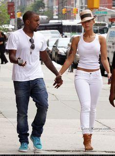 White jeans white tank