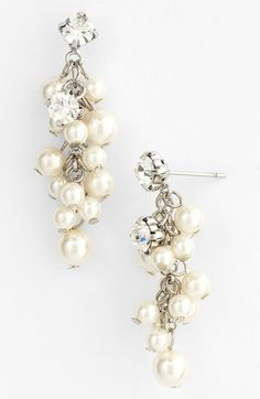 Nina 'Aisley' Faux Pearl Drop Earrings available at #Nordstrom