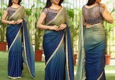 new indian pakistani bollywood stayle satin pedding soft saree sari wedding 1 Blouse Back Neck Designs, Silk Saree Blouse Designs, Fancy Blouse Designs, Bridal Blouse Designs, Chiffon Saree, Saree Dress, Boat Neck Saree Blouse, Satin Saree, Fancy Sarees