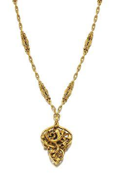 Gold necklace, Louis Wièse, circa 1890