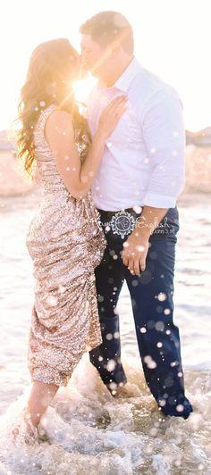 NJ Engagement shoot in the ocean :) #rylandinn Ryland Inn Wedding yay! www.kayenglishphotography.com