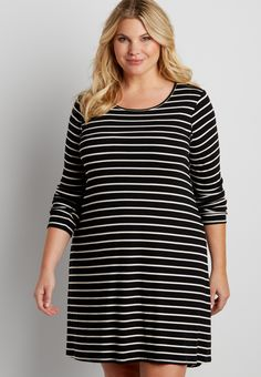 plus size striped dress (original price, $46.00) available at #Maurices