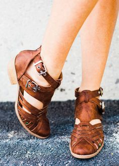 Spring Buckled Booties - 3 Colors!