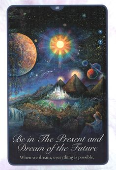 """40 Be in the Present and Dream of the Future 2"" Oracle Cards Whispers of Love par Josephine Wall and Angela Hartfield"