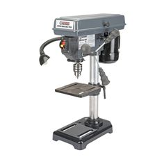 Your father will love this! Very affordable price too  http://www.bonanza.com/listings/8-Inch-Bench-Mount-Drill-Press-5-Speed-Home-or-Shop-Cast-Iron-Base/212649246