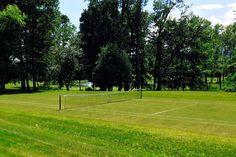 Tennis Court #cthLeedAP Connecticut, Tennis, Landscaping, Around The Worlds, Modern, House, Trendy Tree, Yard Landscaping, Landscape Architecture
