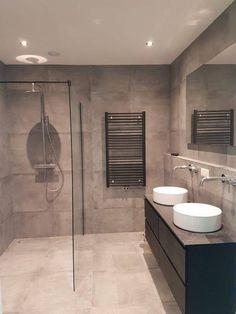 The Best 2019 Interior Design Trends - Interior Design Ideas Attic Bathroom, Bathroom Goals, Upstairs Bathrooms, Family Bathroom, Bathroom Inspo, Bathroom Inspiration, Modern Bathroom, Master Bathroom, Bathroom Vanity Designs