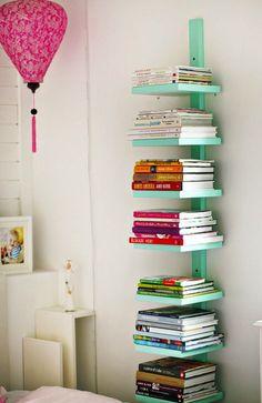 Colorful Bedside Book Case