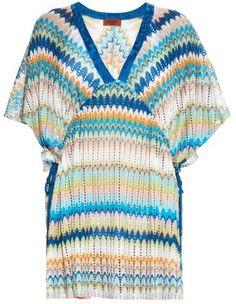 MISSONI MARE Wave-stripe knit kimono