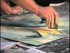 ARTINQUIRY/Art of the Monoprint Artist Bob Boreman creates Art with Gail Grover - YouTube