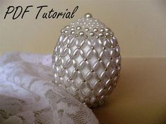 Lora - Easter egg ornament Beading pattern easter decoration Beading tutorial easter egg table decoration Faberge egg bead pattern Egg tree