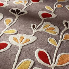 Natural, Scarlet, Sunshine U0026 Sunflower Flowers Garden Brown Yellow Red  Green Rug Rugs