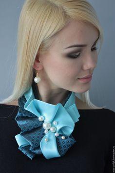 """Купить Украшение """" Лазурный берег """" - бирюзовый, абстрактный, подарок, украшение, модный аксессуар"""
