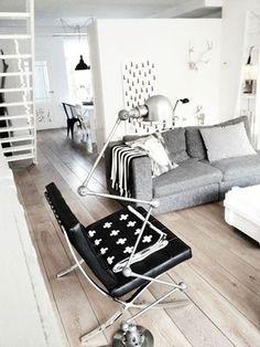 barcelona chair schwarz - popfurniture.com | barcelona chair ... - Raumgestaltung Schwarz Weis Wohnzimmer