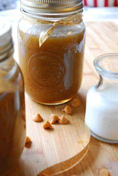homemade vanilla bean butterscotch sauce...