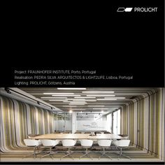 Project: Fraunhofer Institute, Porto, Portugal  Realisation: PEDRA SILVA ARQUITECTOS & LIGHT2LIFE, Lisboa, Portugal  Lighting: PROLICHT Götzens, Austria Portugal, Lighting Design, Austria, Porto, Stones, Architects, Light Design