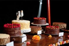cake buffet: because you will never be able to choose just ONE wedding cake to make