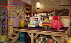 On the Disney Channel series Good Luck Charlie, Bridgit Mendler plays Teddy Duncan, who everybody loves for her spunk, charisma, and hilarious. Teddy Duncan, Bedroom Loft, Bedroom Storage, Dream Bedroom, Girls Bedroom, Bedroom Decor, Bedroom Ideas, Design Bedroom, Diy Storage