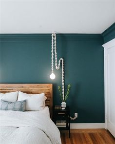 Master Bedroom Design - Katie Monkhouse Interior Design - Harrogate, U. Green Bedroom Walls, Teal Bedroom Decor, Bedroom Wall Colors, Home Bedroom, Bedroom Small, Teal Bedrooms, Teal Walls, Bedroom Ideas, Green Walls