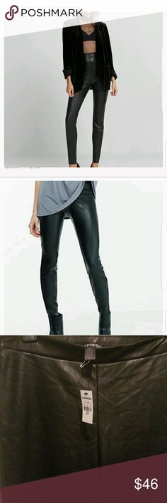 6f81c429a6ba2 Express Leather Jeggings Express black leather jeggings. Are high waisted  and comfy. Size medium