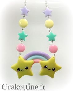 Collier+Rainbow+star+kawaii
