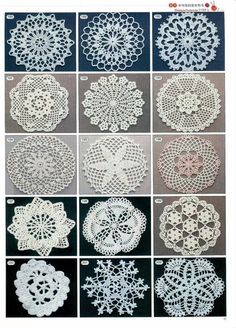 2180 crochet motif magazines. free crochet charts. Tons of them. Maybe I can find one for making a table cloth.